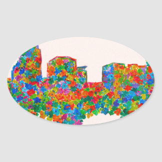 Charlotte Flower Oval Sticker