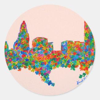 Charlotte Flower Round Sticker