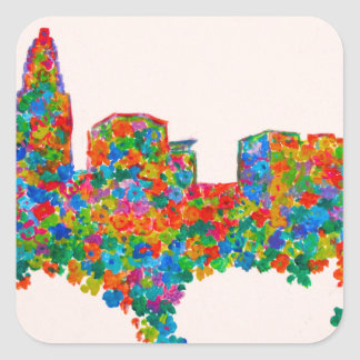 Charlotte Flower Square Sticker