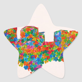 Charlotte Flower Star Sticker
