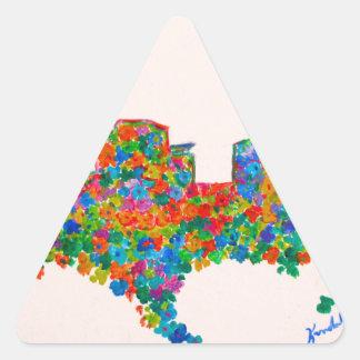 Charlotte Flower Triangle Sticker
