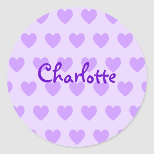 Charlotte in Purple Classic Round Sticker