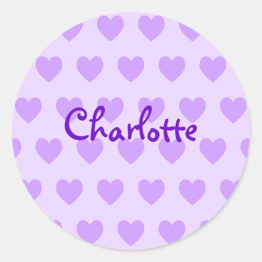 Charlotte in Purple Round Sticker