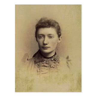 Charlotte 'Lottie' (JACOBS) ZARFOS, circa 1890 Postcard