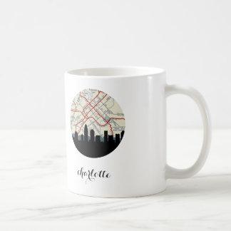 Charlotte, NC | Charlotte vintage map Basic White Mug