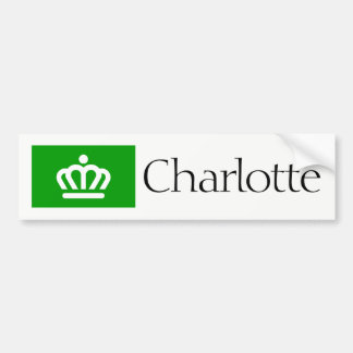 Charlotte, NC flag bumper sticker