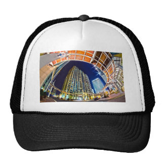 charlotte nc queen city at night mesh hats