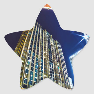 charlotte nc queen city at night star sticker