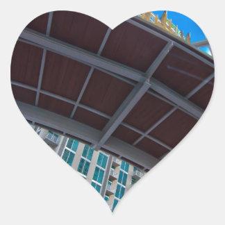 charlotte nc queen city heart sticker