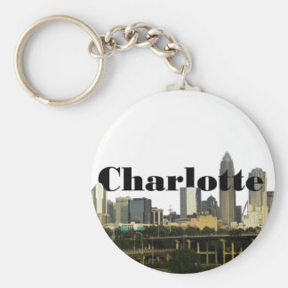 Charlotte NC Skyline with Charlotte in the Sky Keychain