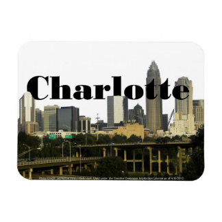Charlotte NC Skyline with Charlotte in the Sky Magnet