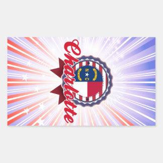 Charlotte, NC Rectangular Stickers