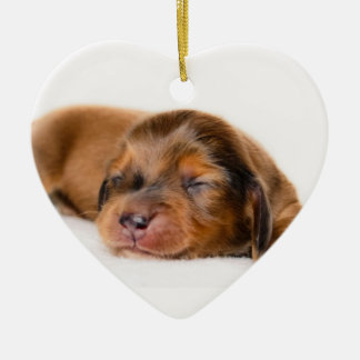 Charlotte Newborn-Lovebugdoxies puppy keepsake Ceramic Heart Decoration