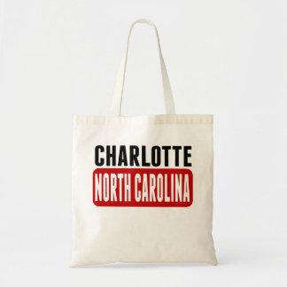 Charlotte North Carolina Budget Tote Bag