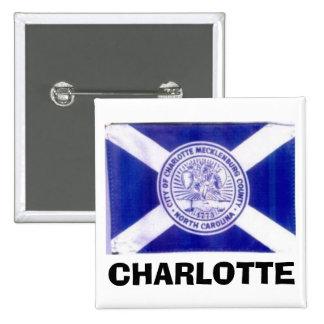 Charlotte North Carolina Flag 15 Cm Square Badge