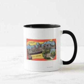 Charlotte, North Carolina - Large Letter Scenes Mug
