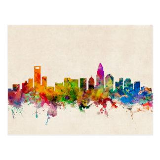 Charlotte North Carolina Skyline Cityscape Postcard