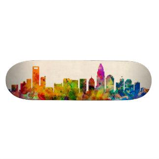Charlotte North Carolina Skyline Cityscape Skate Board Deck
