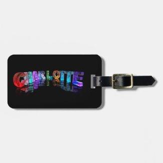 Charlotte- Popular Girls Names in 3D Lights Bag Tag