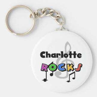 Charlotte Rocks Basic Round Button Key Ring