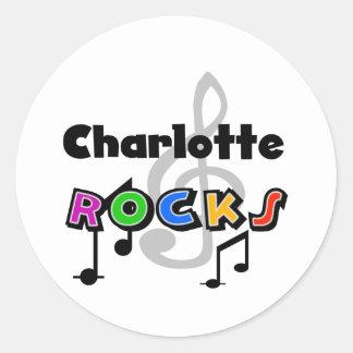 Charlotte Rocks Round Sticker