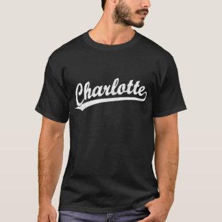 Charlotte script logo in white T-Shirt