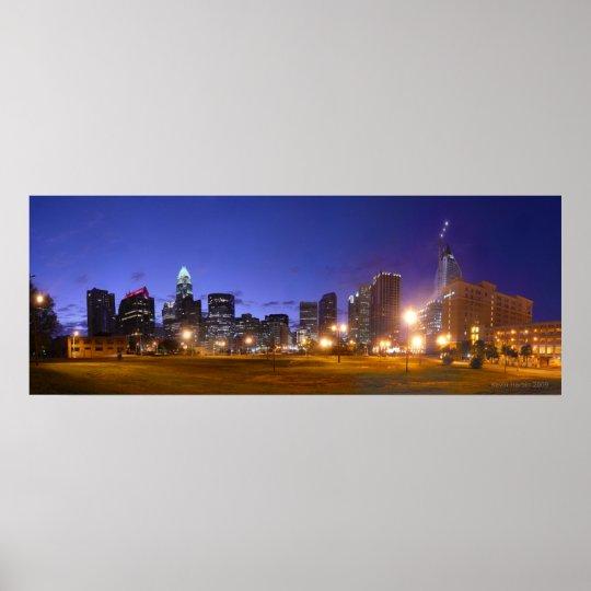 Charlotte Skyline Dawn - full @ 49.5x18.5 Poster