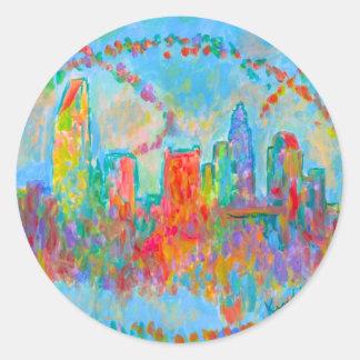 Charlotte Spiral Round Sticker