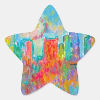 Charlotte Spiral Star Sticker