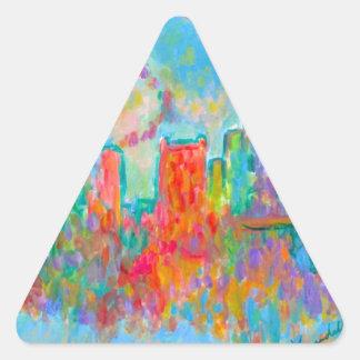 Charlotte Spiral Triangle Sticker