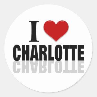 Charlotte Classic Round Sticker