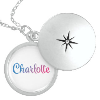 Charlotte Stylish Cursive Sterling Silver Necklace
