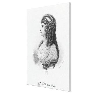 Charlotte von Stein, born von Schardt, late Canvas Print