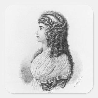 Charlotte von Stein, born von Schardt, late Square Sticker