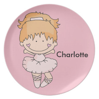 Charlotte's Personalized Ballet Plate