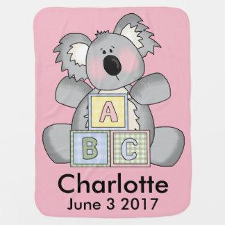 Charlotte's Personalized Koala Baby Blanket