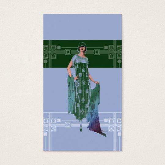 Charlotte's Shawl: 1920s Fashion in Blue & Green
