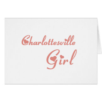 Charlottesville Girl tee shirts Cards