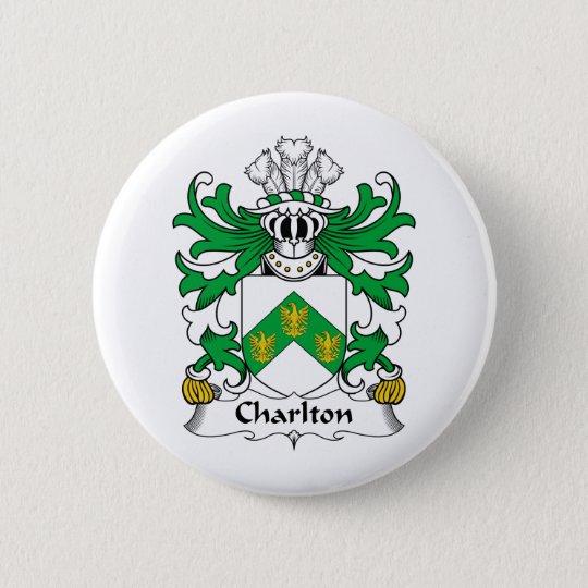 Charlton Family Crest 6 Cm Round Badge