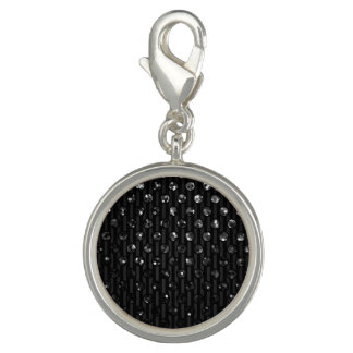 Charm Black Sparkley Jewels