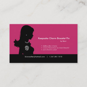Bracelet business cards business card printing zazzle uk charm bracelet business card reheart Gallery