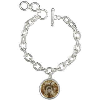Charm Bracelet With Steampunk Girl Charm