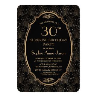 Charm Great Gatsby Vintage Art Deco Birthday Party Card