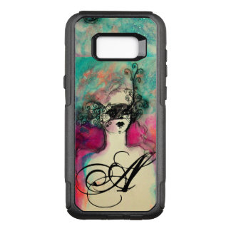 CHARM /Lady With Mask Monogram Pink Teal Green OtterBox Commuter Samsung Galaxy S8+ Case