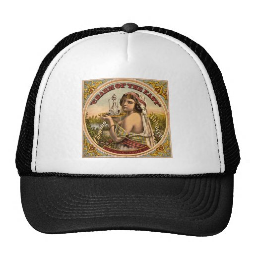 Charm of The East vintage chewing tobacco ad 1872 Hat