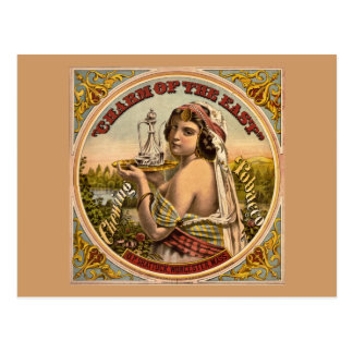 Charm of The East vintage chewing tobacco ad 1872 Postcard