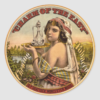 Charm of The East vintage chewing tobacco ad 1872 Round Sticker