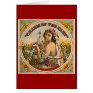 Charm of the East Vintage Chewing Tobacco Greeting Card