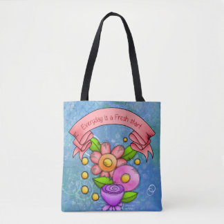 Charmed Positive Thought Doodle Flower Bag
