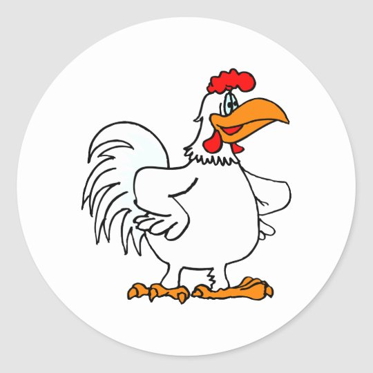 Charmichael Chicken Classic Round Sticker